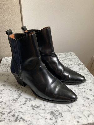 & other stories Western Booties black leather