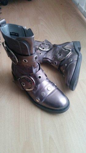 Boots/Stiefeletten Metallic