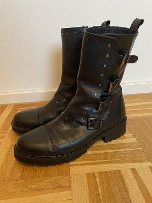 Alpe Woman Botas de invierno negro Cuero