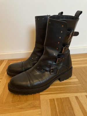 Alpe Woman Winter Boots black leather