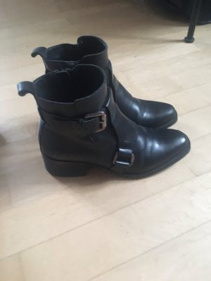 Boots Stiefeletten von Zara Grösse 39 schwarz echtes Leder