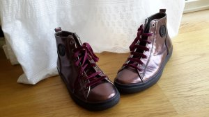 Marc Cain Chelsea Boot gris violet cuir