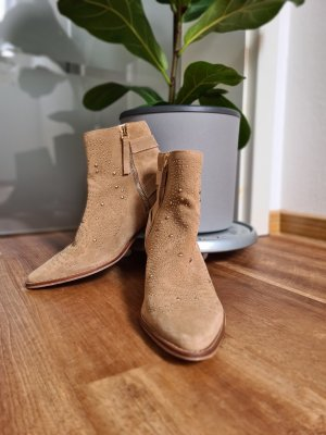 Zara Basic Ankle Boots light brown-camel
