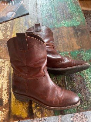 L'autre Choose Buty w stylu western ciemnobrązowy-brązowy Skóra