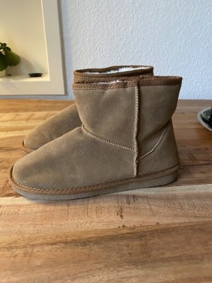 Boots Winter Leder gefüttert Fell