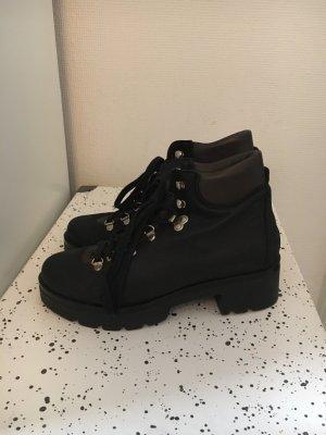 Kauf Dich Glücklich Aanrijg laarzen zwart-donkerbruin