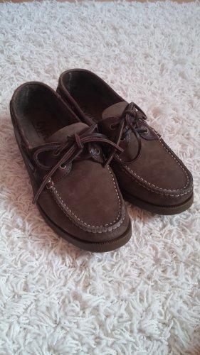Zapatos de marinero gris verdoso-caqui