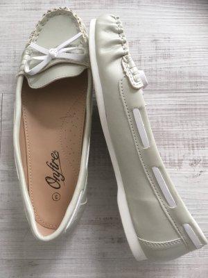 no name Zapatos de marinero gris claro
