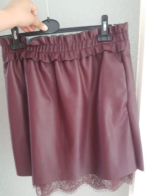Concept Reserved Faux Leather Skirt bordeaux