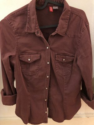 H&M Divided Shirt Blouse brown red