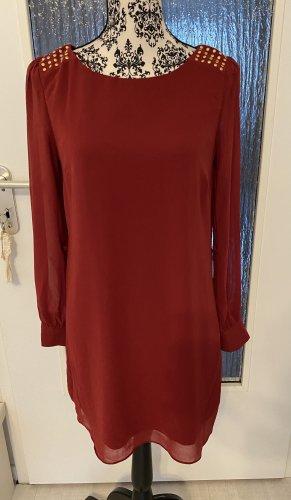 Bordeaux blusenkleid