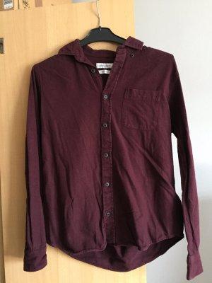 Bordeaux Hemd 100% Baumwolle