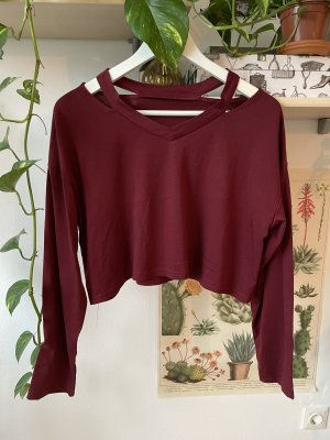 Bordeaux rot cropped top