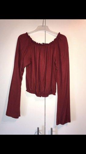 Bordeaux Rote Bluse
