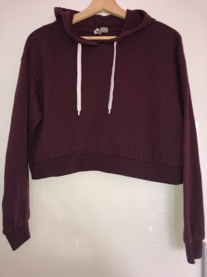 Bordeaux roter croped Pullover