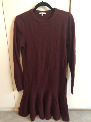 Bordeaux-rotes GANNI Kleid