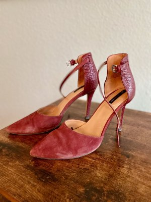 Bordeaux Sling High Heel Lederpumps