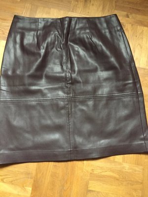 Comma Leather Skirt bordeaux polyester