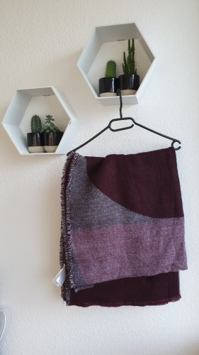 Even & Odd Wollen sjaal bordeaux-paars