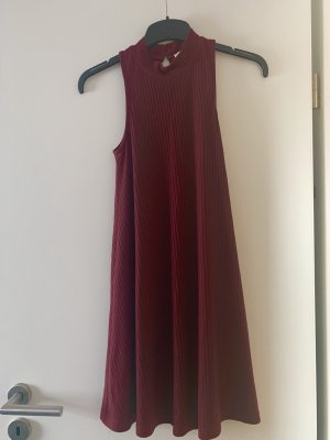 Hollister Halter Dress bordeaux viscose
