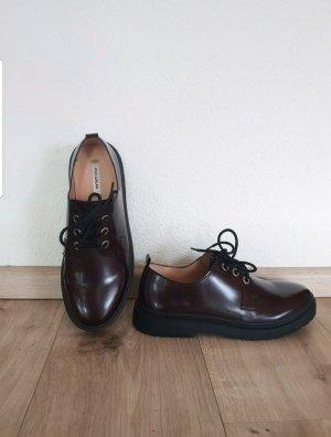 Pull & Bear Scarpa Oxford nero-bordeaux