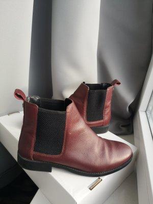 Bordeauxrote Chelsea-Boots (41)