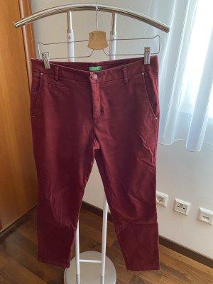 United Colors of Benetton Peg Top Trousers bordeaux
