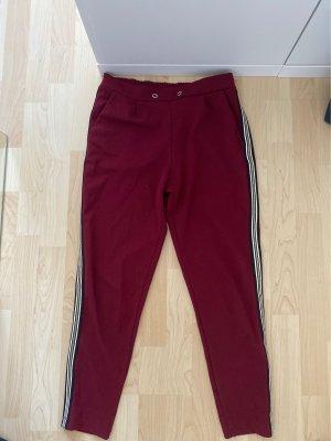 Low-Rise Trousers bordeaux