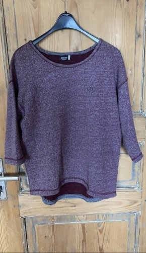 Bordeauxroter 3/4 Arm Sweat/Pullover