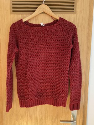 QS by s.Oliver Coarse Knitted Sweater dark red