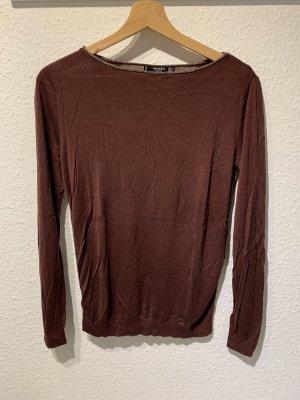 Bordeauxroter Pullover von Mango   Größe: M