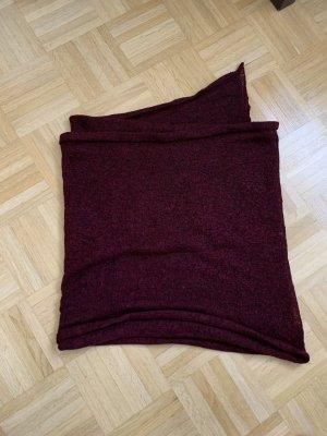 Pieces Gehaakte sjaal bordeaux