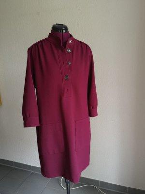 0039 Italy Vestido de manga larga burdeos