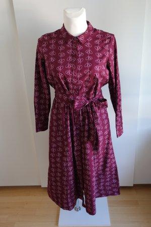 Bordeauxrotes Hemdblusenkleid