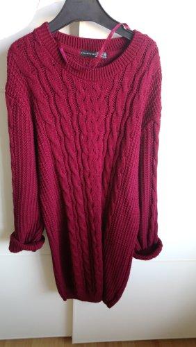 Knitted Dress dark red