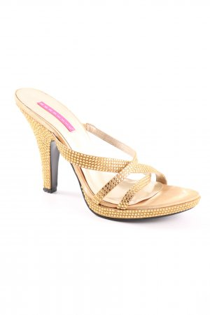 Bordello High Heels goldfarben Elegant