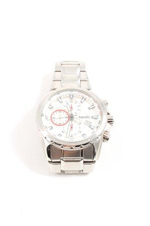 borelli Zegarek z metalowym paskiem srebrny W stylu casual