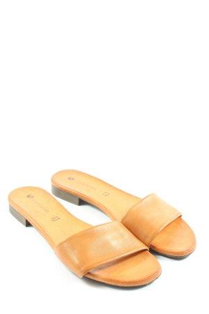 Borgo Giannotti Mule à talon orange clair style décontracté