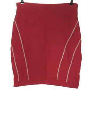 BORN Gebreide rok rood-wit prints met een thema casual uitstraling