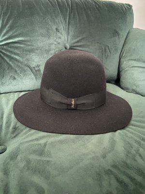 Borsalino Sombrero de fieltro negro lana de angora