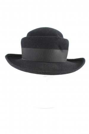 Borsalino Woolen Hat black business style