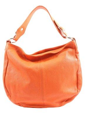 Borse in Pelle Sac seau orange clair style décontracté
