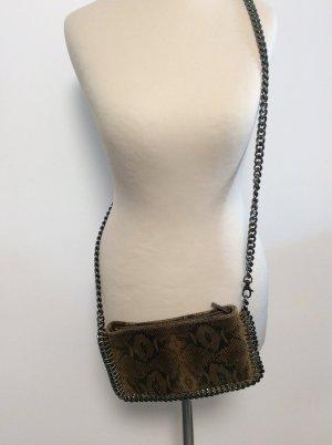 Borse in Pelle Crossbag Tasche Leder / Ketten