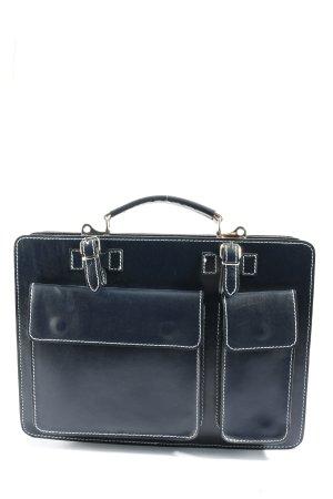 Borse in Pelle Italy Briefcase black-white casual look