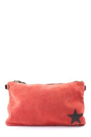 Borse in Pelle Italy Pochette rouge-noir style décontracté