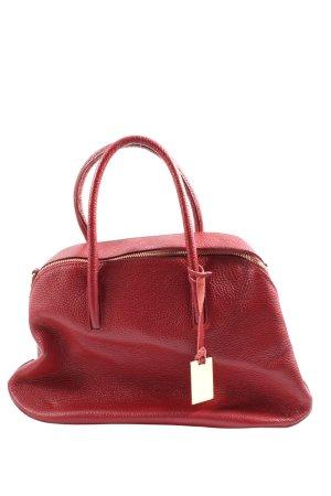 Borse in Pelle Italy Handtasche rot Business-Look