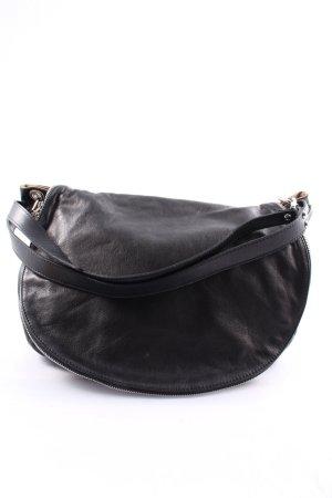 Borse in Pelle Italy Handtasche schwarz Metallelemente