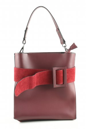 Borse in Pelle Italy Carry Bag red-pink casual look