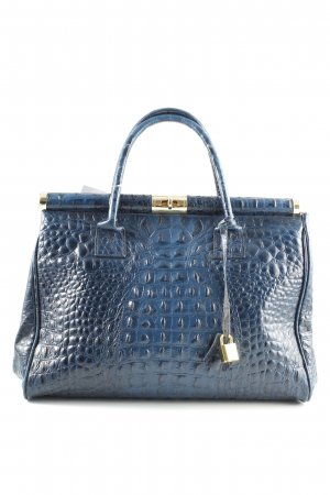 Borse in Pelle Italy Carry Bag blue animal pattern business style