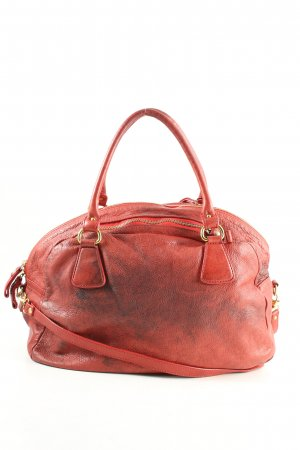 Borse in Pelle Italy Carry Bag red casual look